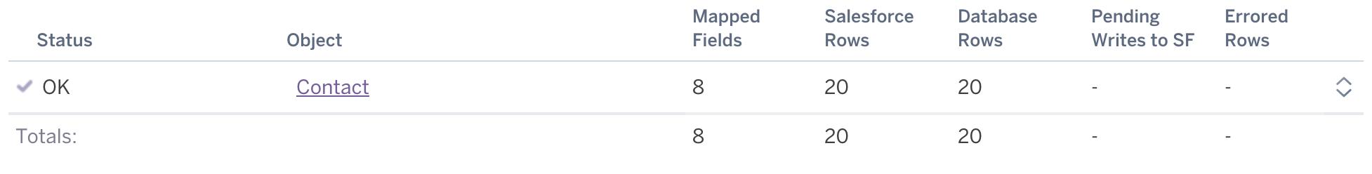 Screenshot of the mappings UI