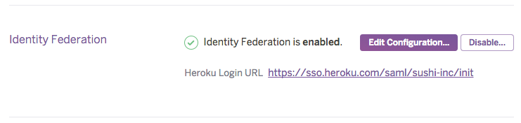 Login URL for identity federated orgs
