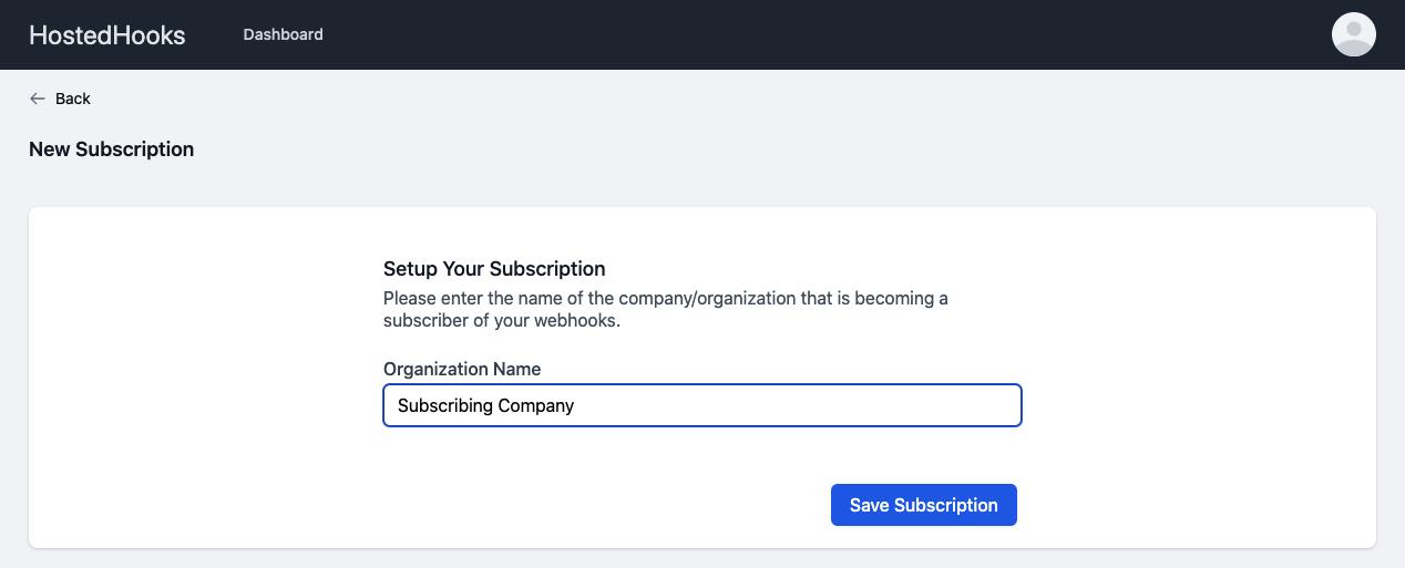Setup Subscriber Organization