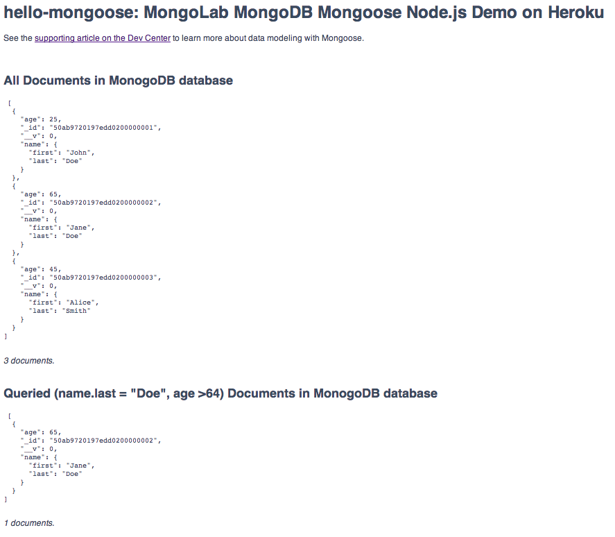 Object Modeling in Node js with Mongoose | Heroku Dev Center